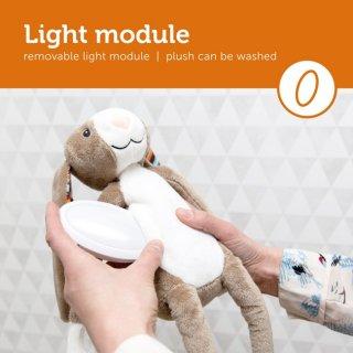 Bo nyuszi zenélő plüss és éjjeli fény, babaszoba kiegészítő (ZA)