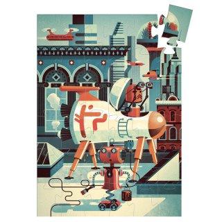 Bob a robot 36 db-os formadobozos puzzle, Djeco kirakó - 7239 (4-8 év)