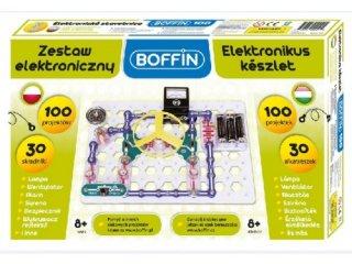 Boffin 100, elektromos kísérletező alapkészlet (Boffin, 100 kísérlet, 30 alkatrész, tudományos játék, 7-12 év)