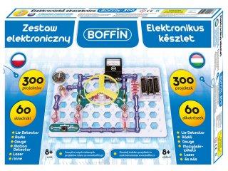Boffin 300, elektromos kísérletező alapkészlet (Boffin, 300 kísérlet, 60 alkatrész, tudományos játék, 7-12 év)