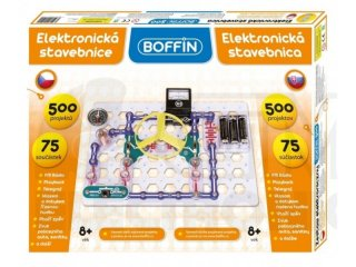 Boffin 500, elektromos kísérletező alapkészlet (Boffin, 500 kísérlet, 75 alkatrész, tudományos játék, 7-12 év)