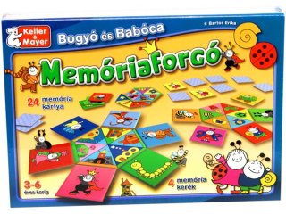 Bogyó és Babóca, Memóriaforgó (Keller & Mayer, párosító memória társasjáték, 3-6 év)