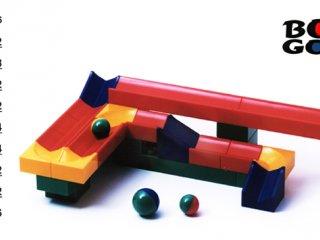 Bolyongolyó, golyópálya építő játék, alap készlet (36 elem, 4-99 év)