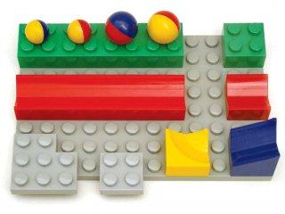 Bolyongolyó golyópálya, izgalmas családi játék (8 építőelem+1 alaplap)