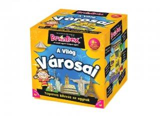 BrainBox, A világ városai (memóriafejlesztő kvíz társasjáték, 8-99 év)