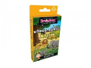 Brainbox, Körös körül állatok (Memóriafejlesztő társasjáték, 7-14 év)