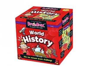BrainBox, World History (angol nyelvű memóriafejlesztő kvíz társasjáték, 8-99 év)