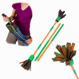 Bravo Stick ördögbot, üvegszálas virágbot (rózsaszín-zöld) (Bravo Juggling, mozgás-, és egyensúlyfejlesztő ügyességi játék, 7-99 év)