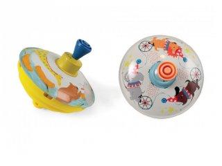 Búgócsiga kétféle állatos mintával, ügyességi játék (1,5-5 év)