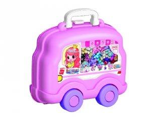 Build N Learn Építve tanulj Autó lányoknak, Lego kompatibilis építőjáték készlet dobozban (QMAN, 2905, 3-12 év)