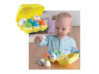Bújócskázó tojások (fejlesztő bébijáték, 6 hó-3 év)
