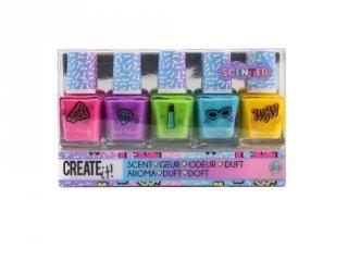 Canenco Create It! Körömlakk 5 db-os szett illatos színekkel, kreatív készlet (6-10 év)