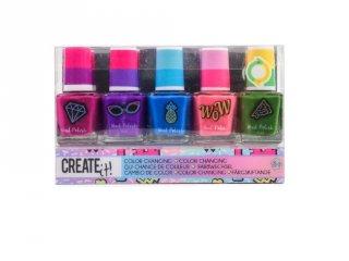 Canenco Create It! Körömlakk 5 db-os szett színváltós színekkel, kreatív készlet (6-10 év)