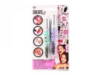 Canenco Create It! Körömművész toll 3 az 1-ben, 2 db-os szett, kreatív készlet (kétféle, 6-10 év)