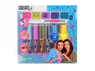 Canenco Create It! Make-Up 7 db-os szett csillámos színekkel, kreatív készlet (6-10 év)