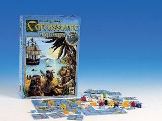 Carcassonne, Déltenger, 2001. Év Társasjátéka (Carcassonne Südsee, területfoglalós, stratégiai társasjáték, 7-99 év)