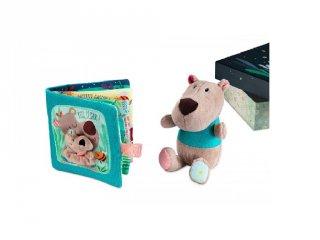 César mackó plüss és könyv díszdobozban (Lilliputiens, 83042, bébijáték, karácsonyi LIMITÁLT KIADÁS, 0-3 év)