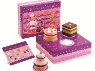 Charlotte és Tom cukrászdája (Djeco, 6610, boltos fajáték süteményekkel, 3-6 év)
