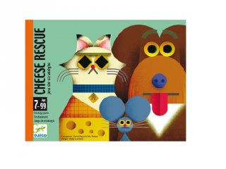 Cheese rescue Sajtmentő, Djeco stratégiai kártyajáték - 5149 (7-99 év)