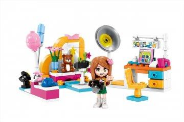Cherry Stúdió csomag, 4 az 1-ben Lego kompatibilis építőjáték készlet (QMAN, 4102, 6-12 év)