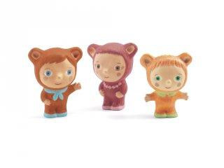 Chounuts család, 3 db figura (Djeco, 9141, műanyag szerepjáték, 2-6 év)