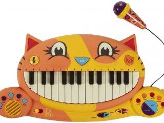 Cica szintetizátor mikrofonnal (B.Toys, gyerek hangszer, 2-6 év)