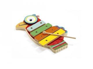 Cintányér és xilofon (Djeco, 6018, fa játékhangszer, 1,5-4 év)