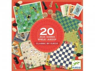 Classic box (Djeco, 5219, 20 db társasjáték egyben, 6-99 év)
