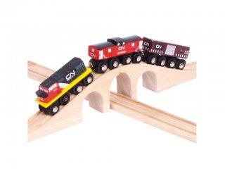 CN, a kanadai vonat (Bigjigs, vonatos fajáték, 3-10 év)