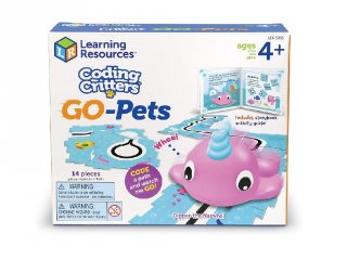 Coding Critters programozható narvál (3099, Learning Resources, Go-Pets: Dipper the Narval, 4-8 év)