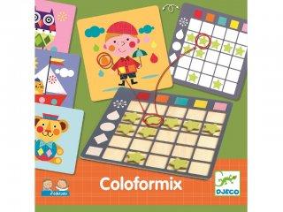 Coloformix (Djeco, 8355, szín-, és formafelismerős logikai játék, 3-7 év)