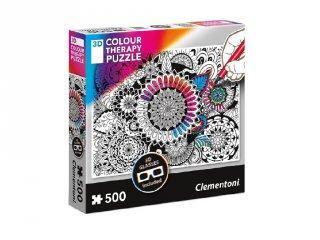 Color Therapy 3D színezhető mandala kirakó, 500 db-os puzzle (CLEM, 8-99 év)