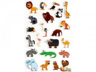 Cooky 3D matrica, A szavanna állatai (Avenue Mandarine, kb. 20 db-os kreatív játék, 3-12 év)