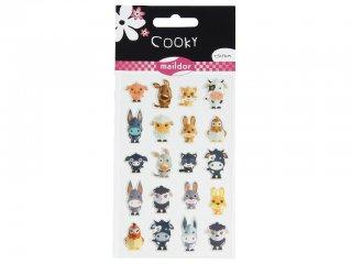 Cooky 3D matrica, A tanya állatai (Avenue Mandarine, kb. 20 db-os kreatív játék, 3-12 év)