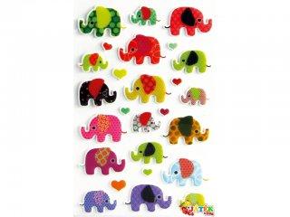 Cooky 3D matrica, Elefánt (Avenue Mandarine, kb. 20 db-os kreatív játék, 3-12 év)