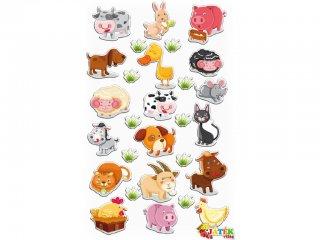 Cooky 3D matrica, Farm (Avenue Mandarine, kb. 20 db-os kreatív játék, 3-12 év)