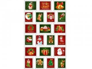 Cooky 3D matrica, Karácsonyi bélyegek (Avenue Mandarine, 560511C, kb. 20 db-os kreatív játék, 3-12 év)