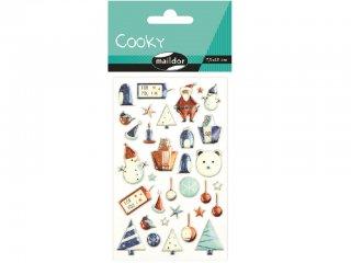 Cooky 3D matrica, Kék karácsony (Avenue Mandarine, CY041O, kb. 20 db-os kreatív játék, 3-12 év)