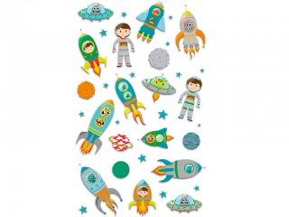Cooky 3D matrica, Űrrakéták (Avenue Mandarine, kb. 20 db-os kreatív játék, 3-12 év)