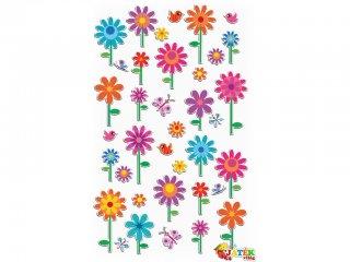 Cooky 3D matrica, Virágok (Avenue Mandarine, kb. 20 db-os kreatív játék, 3-12 év)