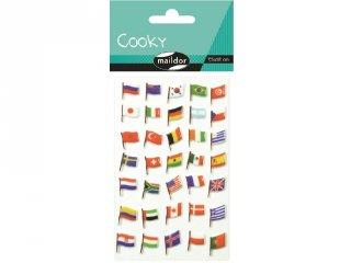 Cooky 3D matrica, Zászlók (Avenue Mandarine, kb. 20 db-os kreatív játék, 3-12 év)