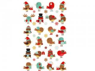 Cooky 3D matricák, Karácsonyi madarak (Avenue Mandarine, 560536, kb. 20 db-os kreatív játék, 3-12 év)
