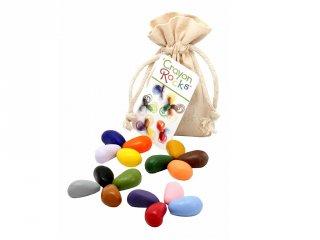 Crayon Rocks, 16 db-os kavicskréta készlet (muszlin)