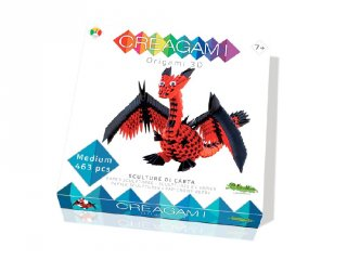 Creagami 3D origami készlet, Sárkány közepes (7-99 év)