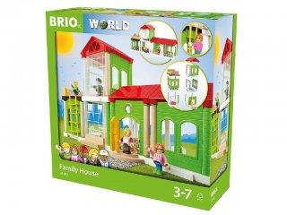 Családi ház szett (Brio, fa szerepjáték, 3-7 év)