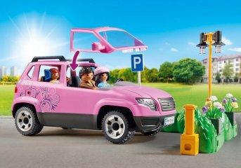 Családi kocsi parkolóhellyel, Playmobil szerepjáték (9404, 4-10 év)