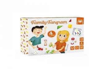 Családi tangram, logikai társasjáték (5-10 év)