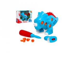 Csavarozható Triceratopsz, dínós kreatív játék (3-6 év)