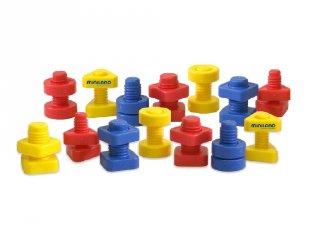 Csavarozós játék (Miniland, 31721, kreatív építőjáték, 3-6 év)