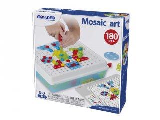 Csavarozós képalkotó játék (Miniland, 95020, 180 db-os kreatív építőjáték, 3-7 év)
